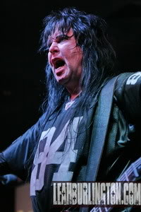Blackie Lawless...and no he is not related to Lucy Lawless...