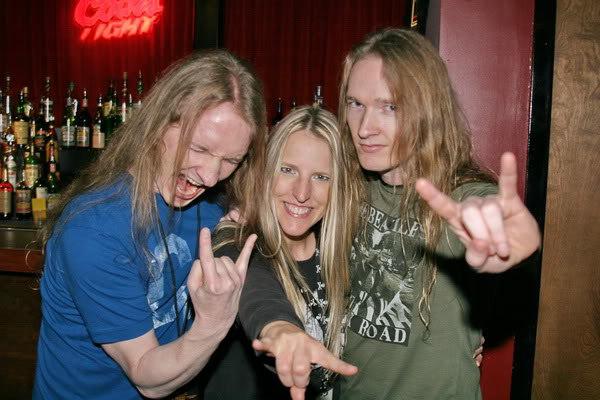 Me and Jason and Troy Tipton of Zero Hour!! These guys are like my brothers in METAL!!! Throw some horns boys!!! \m/\m/